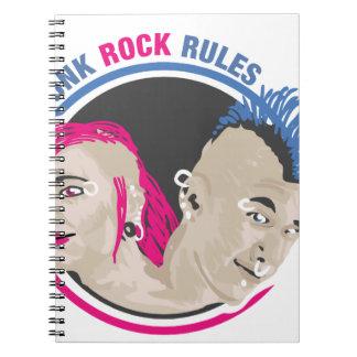 Reglas del punk rock libretas espirales