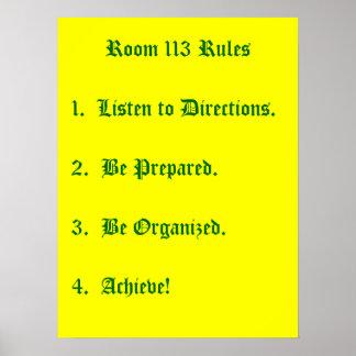 Reglas del sitio 113 póster