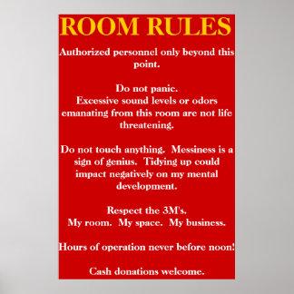 Reglas del sitio póster