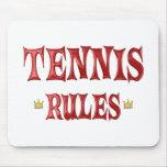 Reglas del tenis alfombrilla de ratón