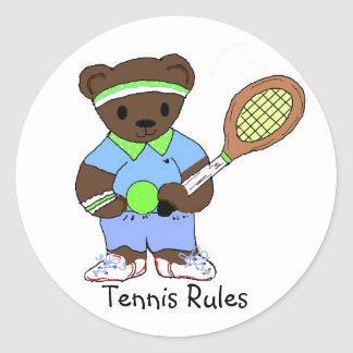 Reglas del tenis etiquetas redondas
