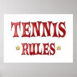 Reglas del tenis poster