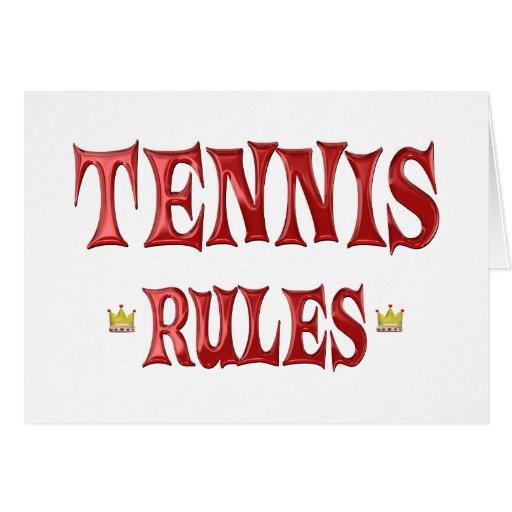 Reglas del tenis tarjeton