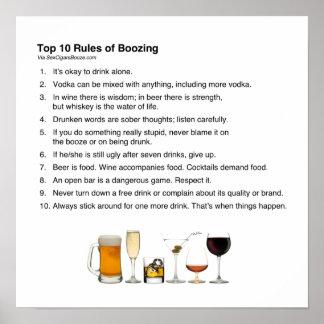 Reglas del top 10 de emborrachar impresiones
