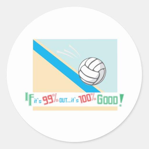 ¡Reglas del voleibol…! Pegatina Redonda