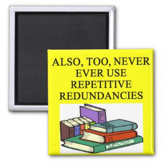reglas divertidas para los escritores imán cuadrado