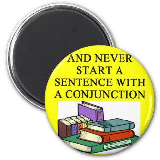 reglas divertidas para los escritores imán redondo 5 cm