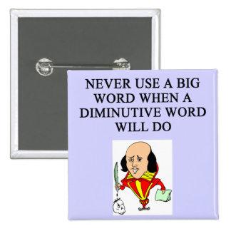 reglas divertidas para los escritores pin cuadrado