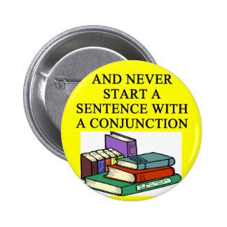 reglas divertidas para los escritores pin redondo de 2 pulgadas