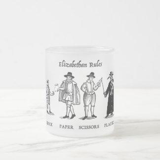 Reglas isabelinas (taza) taza de cristal