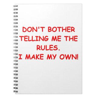 reglas libros de apuntes