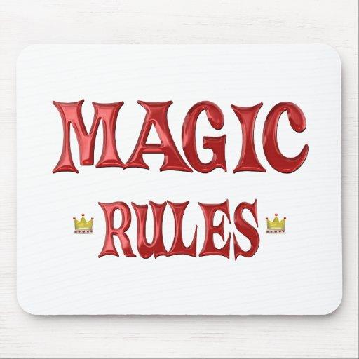 Reglas mágicas alfombrillas de ratones