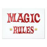 Reglas mágicas comunicados personalizados