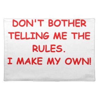 reglas mantel