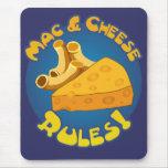 Reglas Mousepad del mac y del queso Alfombrillas De Ratones