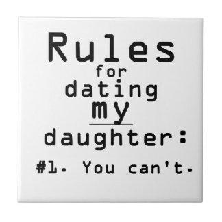 Reglas para fechar a mi hija teja cerámica