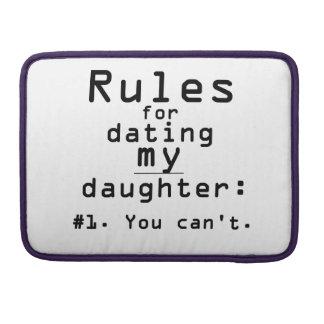 Reglas para fechar a mi hija funda macbook pro