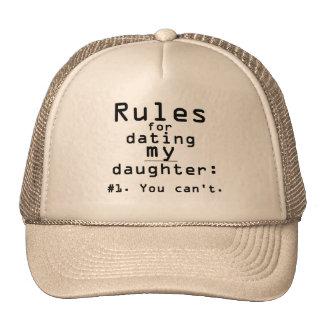 Reglas para fechar a mi hija gorros bordados