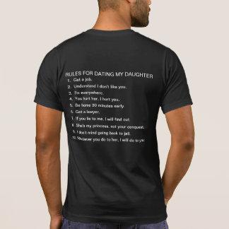 Reglas para fechar a mi hija camisetas