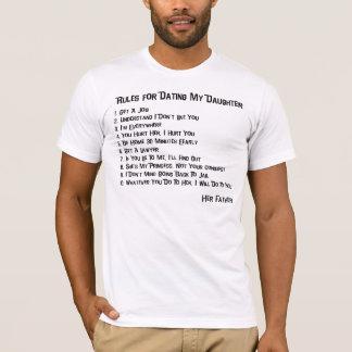 Reglas para fechar mi camiseta de la hija