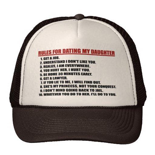 Reglas para fechar mi gorra del marrón de la hija/