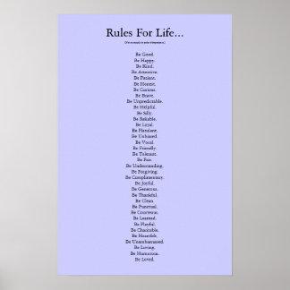 """""""Reglas para la vida…"""" - Azul Impresiones"""