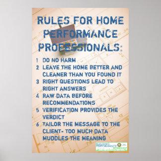 Reglas para los profesionales caseros del funciona impresiones