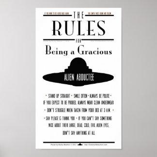 Reglas para ser un Abductee gracioso Póster