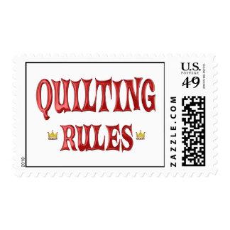 Reglas que acolchan sellos
