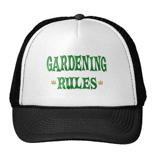 Reglas que cultivan un huerto gorros bordados