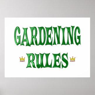 Reglas que cultivan un huerto posters