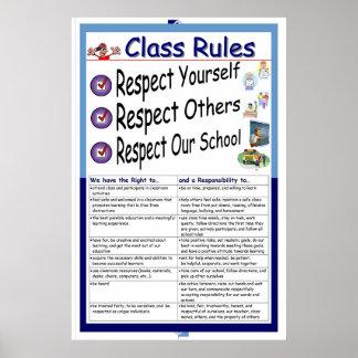Reglas (respecto) póster