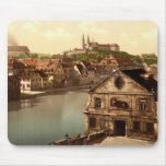Regnitz and Michaelsberg Bamberg Bavaria Germany Mouse Pads
