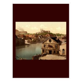 Regnitz and Michaelsberg Bamberg Bavaria Germany Postcard