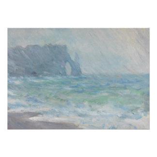 Regnvaer Etretat by Claude Monet Custom Invites