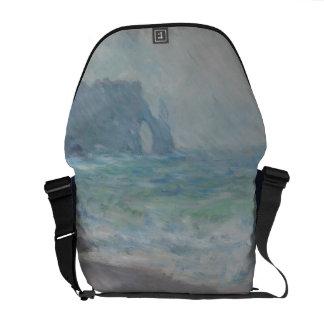 Regnvaer Etretat by Claude Monet Messenger Bag