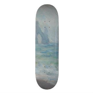 Regnvaer Etretat by Claude Monet Skateboard Deck