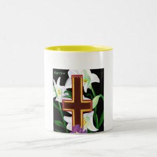 Regocijese taza (Rejoice mug) Two-Tone Coffee Mug