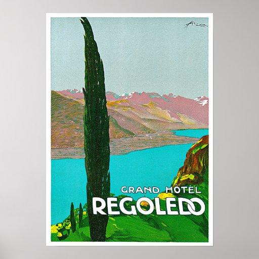 Regoledo Italy Vintage Travel Poster