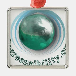 Regreensibility Logo Metal Ornament