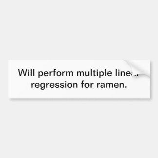 Regresión linear múltiple para los ramen pegatina para auto