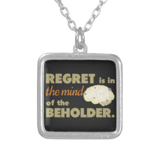 Regret is in the Mind of the Beholder Personalized Necklace