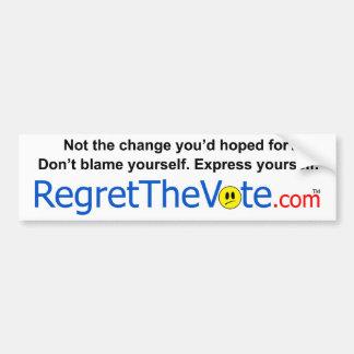 Regret the Vote Bumper Sticker
