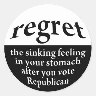 Regret: Voting Republican Lapel Sticker