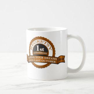 Regretsy aniversario de 1 año taza de café