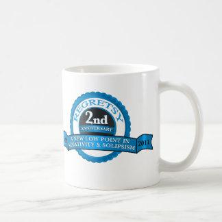 Regretsy aniversario de 2 años taza de café