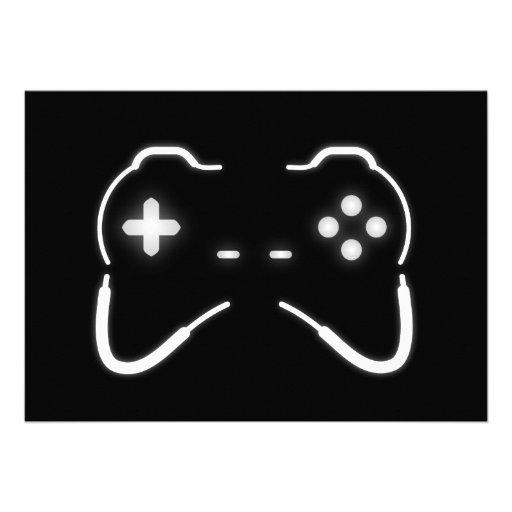Regulador del juego invitacion personalizada