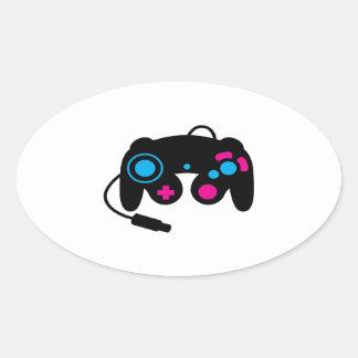 Regulador del juego calcomania de oval personalizadas
