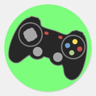 Regulador del juego pegatina redonda