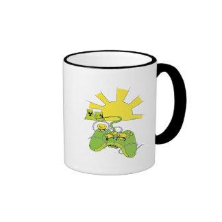 regulador tóxico del cojín del videojuego taza de café